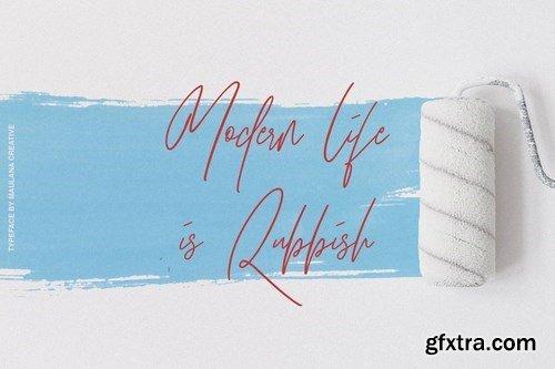 Hawkins Signature Brush Font