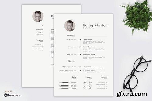 Harley - Clean Minimalist Resume TS