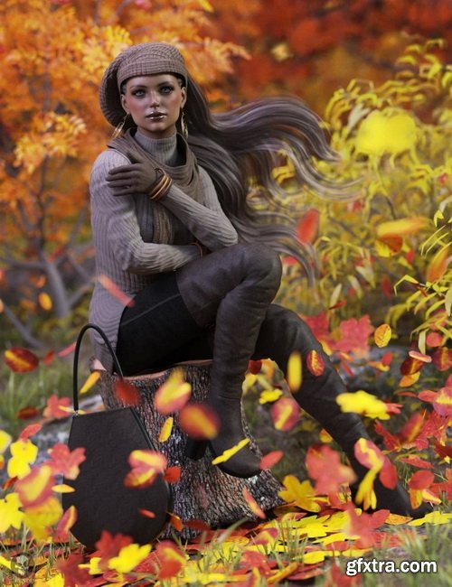 Daz3D - dForce Casual Autumn Outfit for Genesis 8 Female(s)