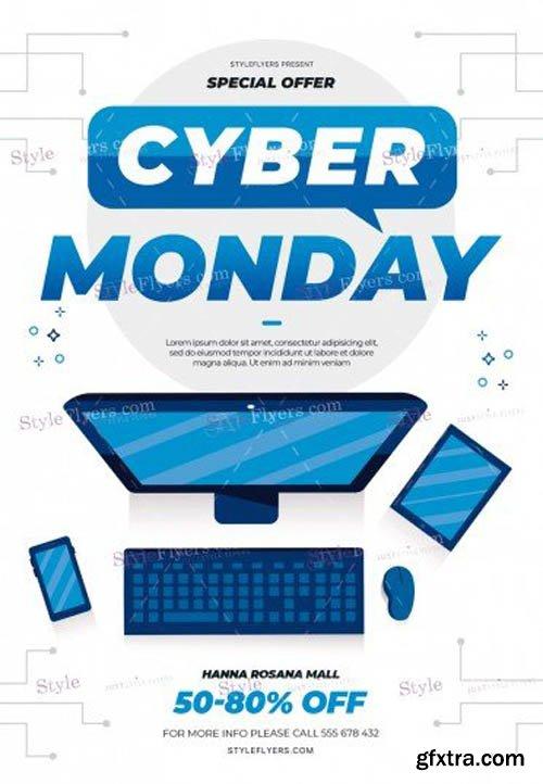 Cyber Monday V0911 2019 PSD Flyer Template