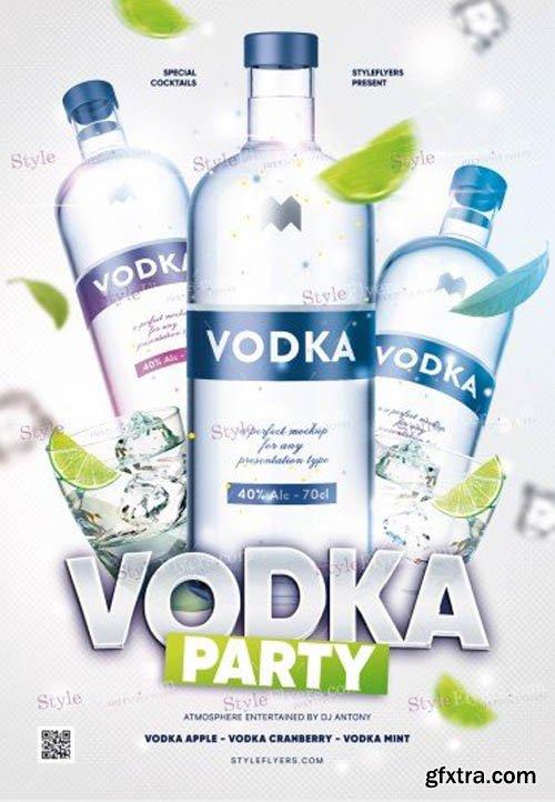 Vodka Party V0911 2019 PSD Flyer Template