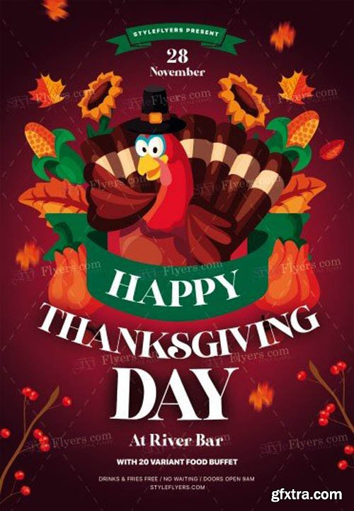 Thanksgiving Day V0811 2019 PSD Flyer Template