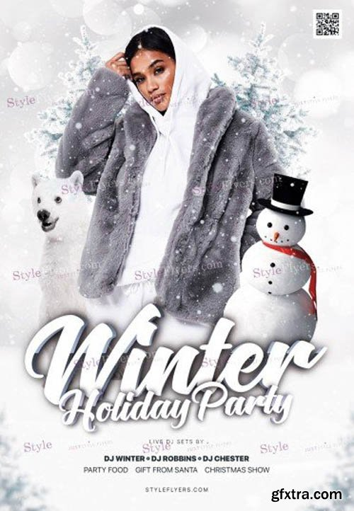 Winter Holiday V0911 2019 Party PSD Flyer