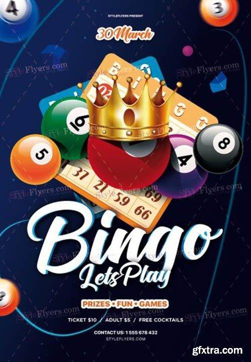 Bingo V0911 2019 PSD Flyer Temlate