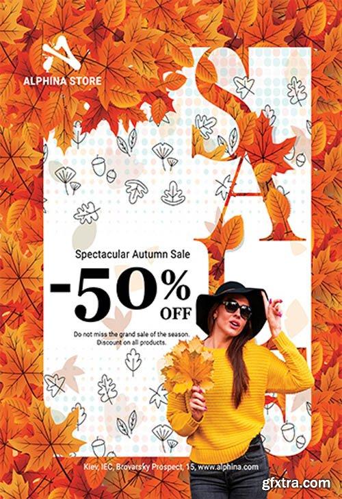 Autumn Sale V0911 2019 Premium PSD Flyer Template