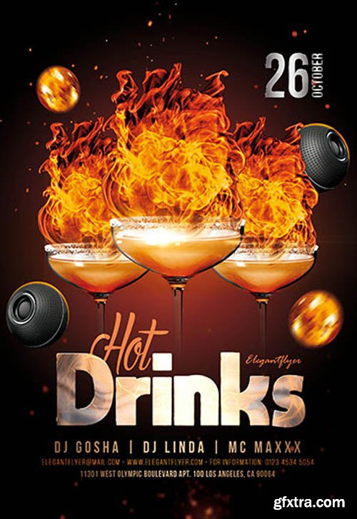 Hot Drinks V0911 2019 PSD Flyer Template