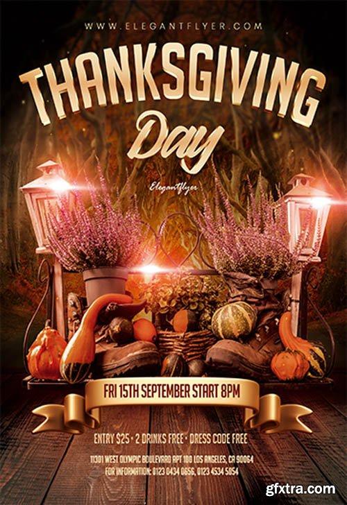 Thanksgiving Day V0611 2019 Premium PSD Flyer Template