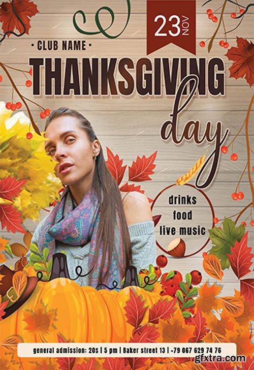 Thanksgiving Day V0511 2019 Premium PSD Flyer Template