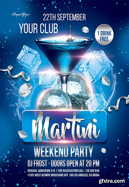 Martini Weekend Party V0911 2019 Premium PSD Flyer Template