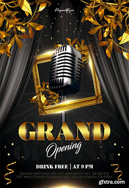 Grand Opening V0811 2019 Premium PSD Flyer Template
