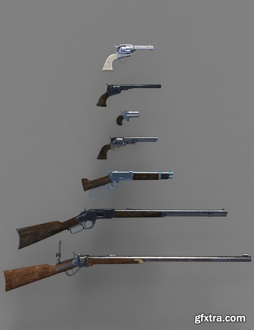 Daz3D - Old West Firearms Vol 2