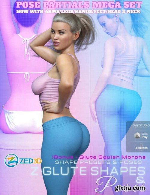 Daz3D - Z Glute Shapes Pose Partials Mega Se