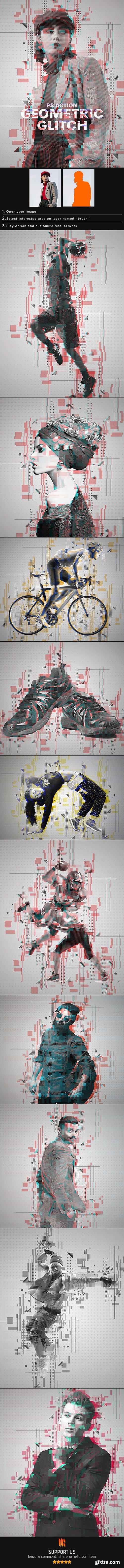 GraphicRiver - Geometric Glitch Photoshop Action 25029782
