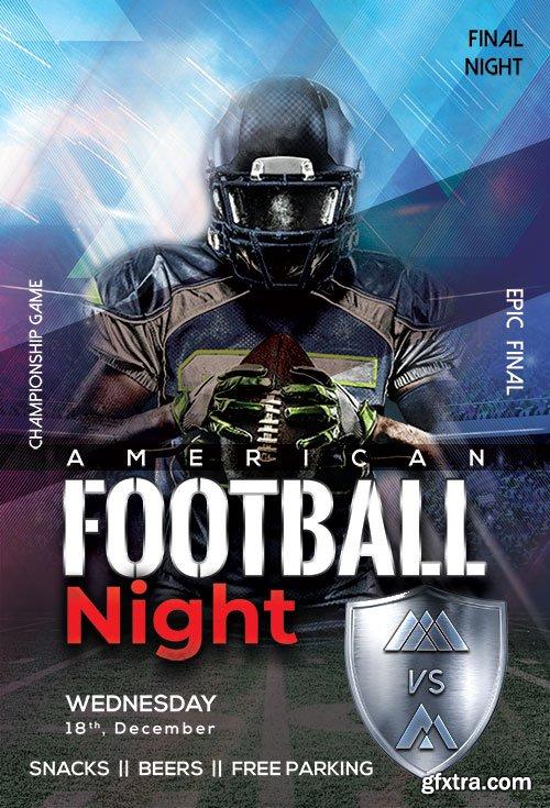American Football Night - Premium flyer psd template