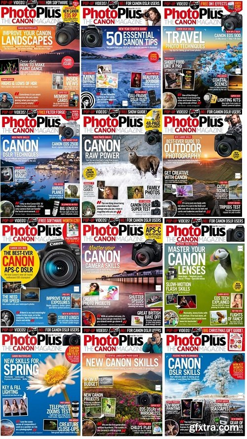 PhotoPlus. The Canon Magazine - Full Year Issues Collection 2019