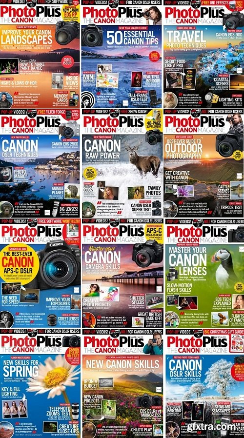 PhotoPlus. The Canon Magazine - Full Year Issues Collection 2019 (True PDF)