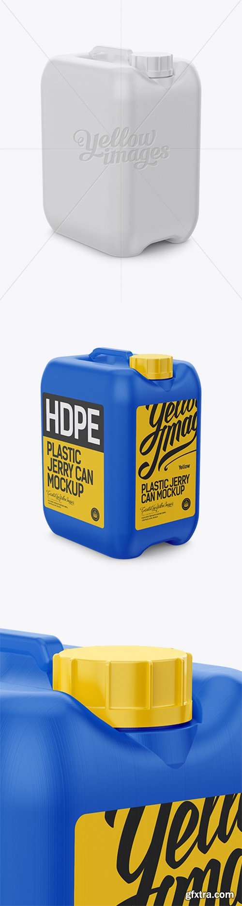 10L HDPE Jerry Can Mockup - Halfside View (High-Angle Shot) 13838