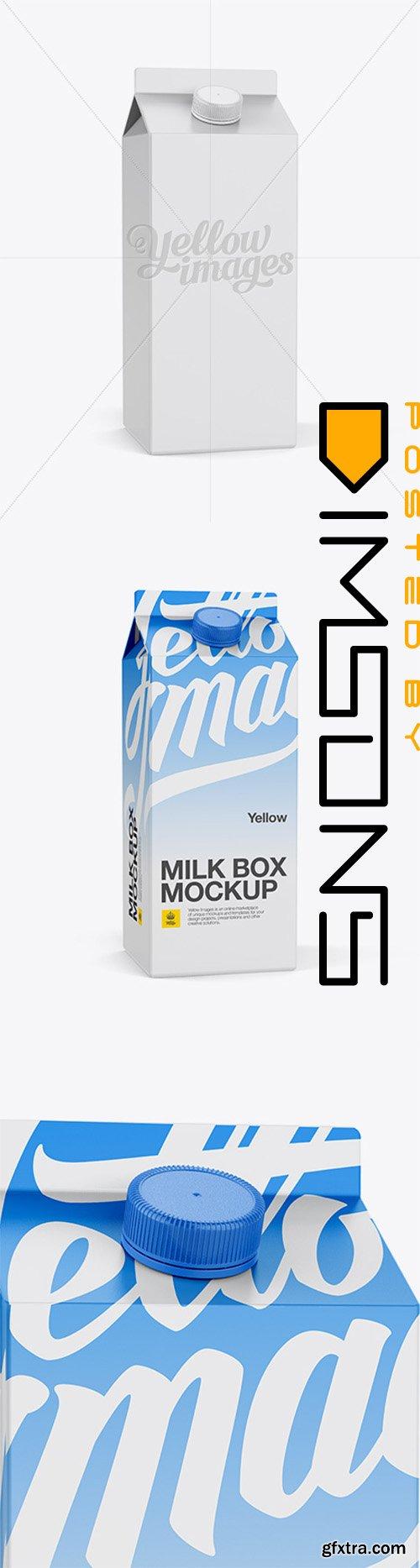 0.5 gal Milk Carton Mockup - Halfside View 14000
