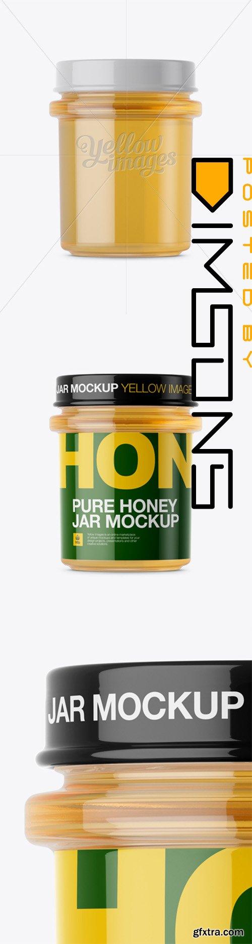 Pure Honey Jar Mockup - Front View 13879