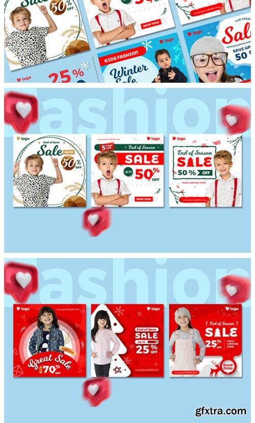 Kids Fashion Winter Sale Social Media 2003320