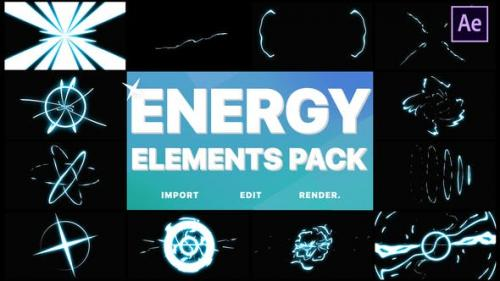 Videohive - Cartoon Energy Elements Pack | After Effects