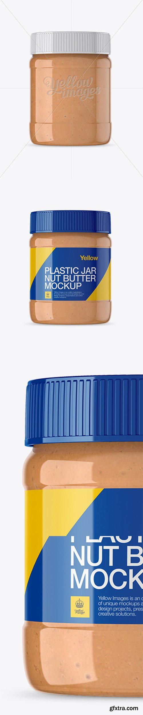 Glass Jar w/ Nut Butter Mockup - Front View 14144