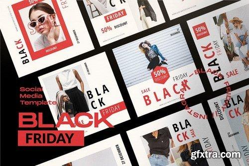 Black Sale!!! - Social Media Template + Stories