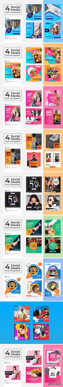 Social Media Post Template Bundle