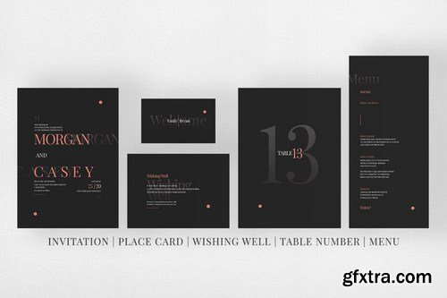Wedding Invitation Suite - Morsey