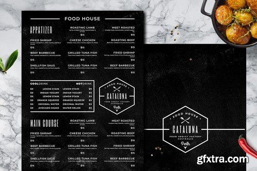 Blackboard Food Menu Bundle