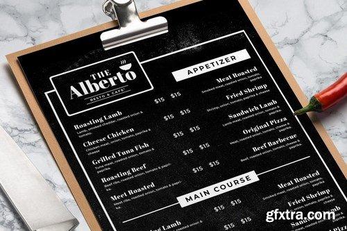 Blackboard Food Menu. 30