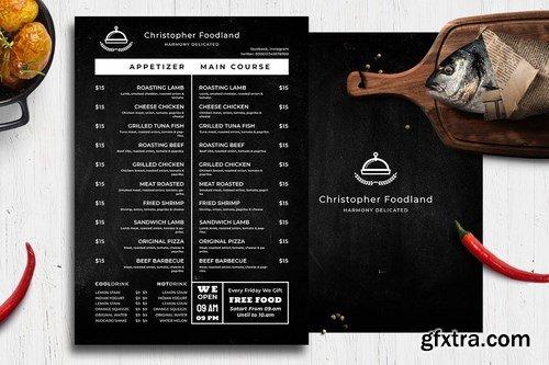 Blackboard Food Menu. 29