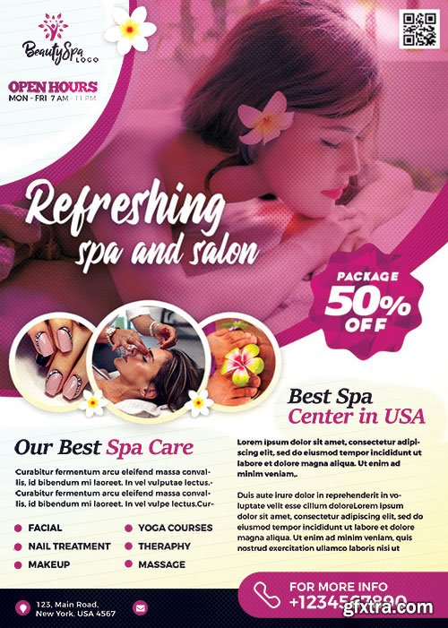 Spa Wellness - Premium flyer psd template