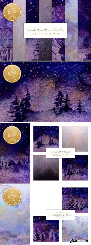 Digital Backgrounds Winter Night Skies 2007663