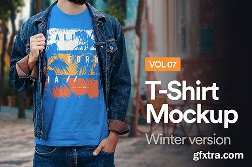Winter T-Shirt Mockup 07
