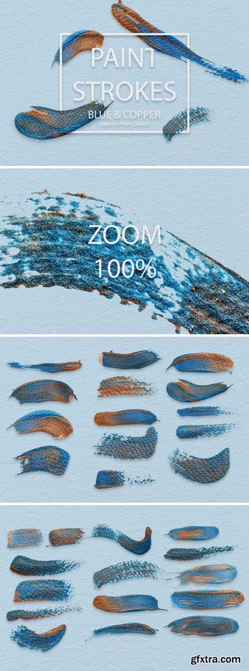 Blue & Copper Strokes 2006393