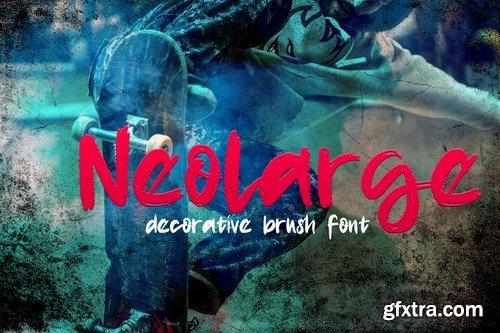Neolarge - Decorative Brush Font