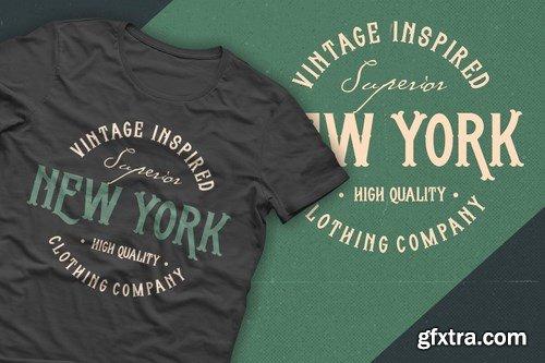 CM - Whisholder Vintage Retro Typeface 4289674