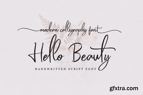 Hello Beauty - Handwritten Font