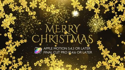 Videohive - Golden Christmas Wishes - Apple Motion