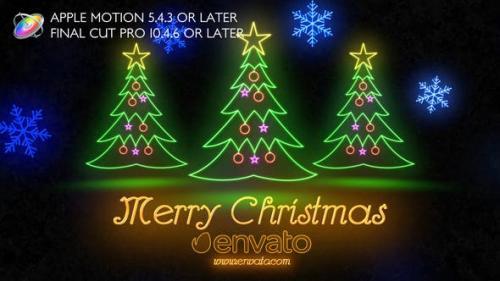 Videohive - Neon Light Christmas - Apple Motion
