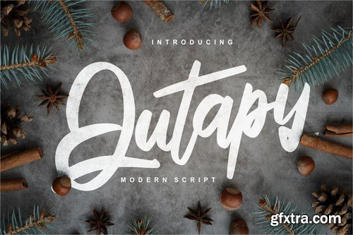 CM - Qutapy Modern Script Font 4284854
