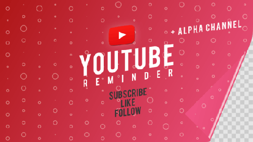 Videohive - Youtube Subscribe Like Follow Reminder