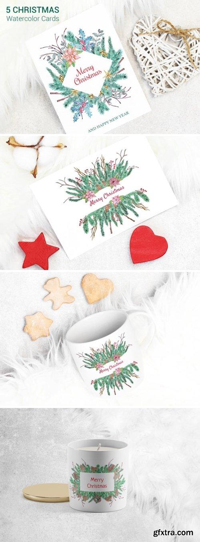 Greeting Christmas Cards Set 2002872