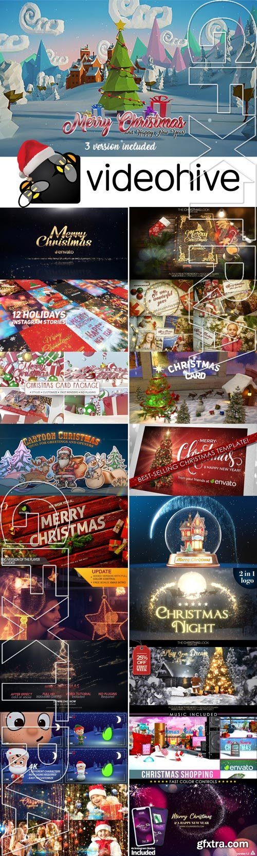 Videohive Christmas Big Pack