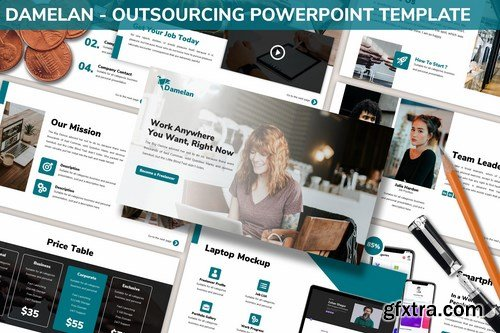 Damelan - Outsourcing Powerpoint Template