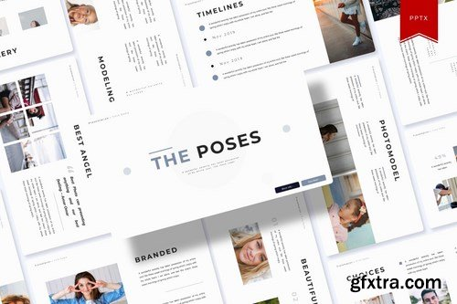The Poses Powerpoint Template