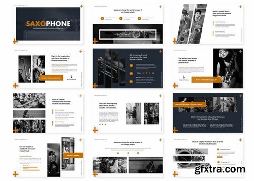 Saxophone - Powerpoint Google Slides and Keynote Templates