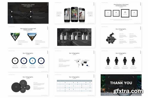 Cycling - Powerpoint Google Slides and Keynote Templates