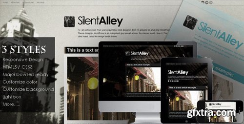 ThemeForest - Silent Alley v1.3 - Responsive Multi-Color Tumblr Theme - 3331664